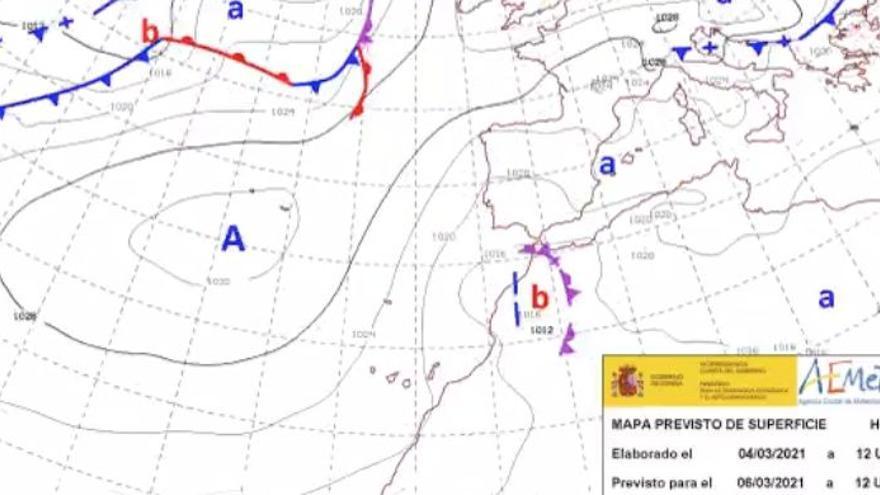 La Aemet activa un aviso máximo amarillo por fuertes vientos en Canarias
