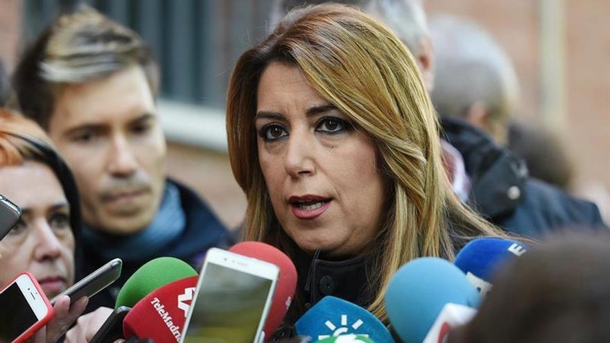 """Díaz asegura que el PSOE """"está donde debe estar"""" ante la crisis catalana"""