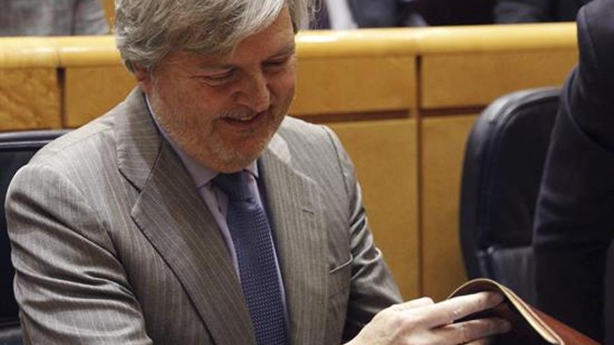 El ministro Iñigo Méndez de Vigo en el Senado. / Efe