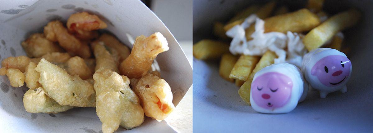 Díptico patatas con alioli, Humberts y verduras en tempura_Conoliva_Malasaña a mordiscos