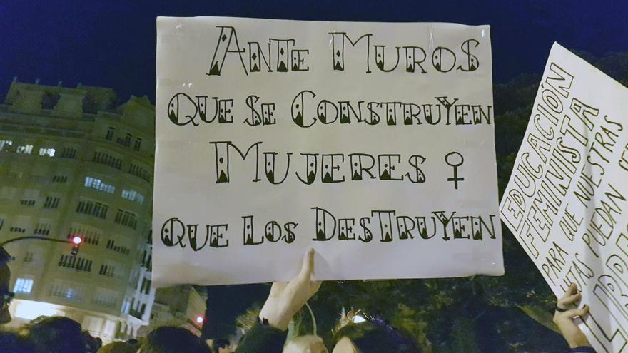 Una de las pancartas que se pudieron ver en la marcha