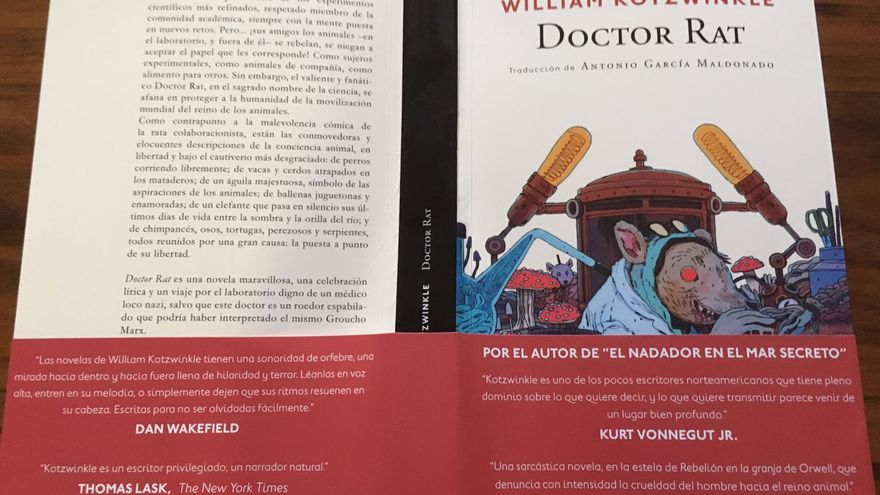 Cubierta de la novela 'Doctor Rat', de William Kotzwinkle, publicada por Navona Editorial.