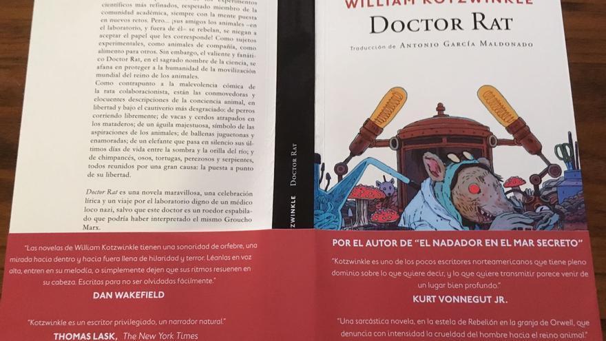 Cubierta de la novela 'Doctor Rat', de William Kotzwinkle, publicada por Navona Editorial.