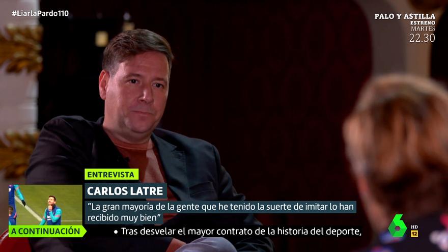 Carlos Latre, durante su entrevista en 'Liarla Pardo'