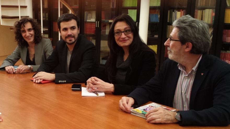 """Garzón corrige a su secretario de Organización y dice que sí conocían la oferta de Podemos al PSOE y la ven """"razonable"""""""