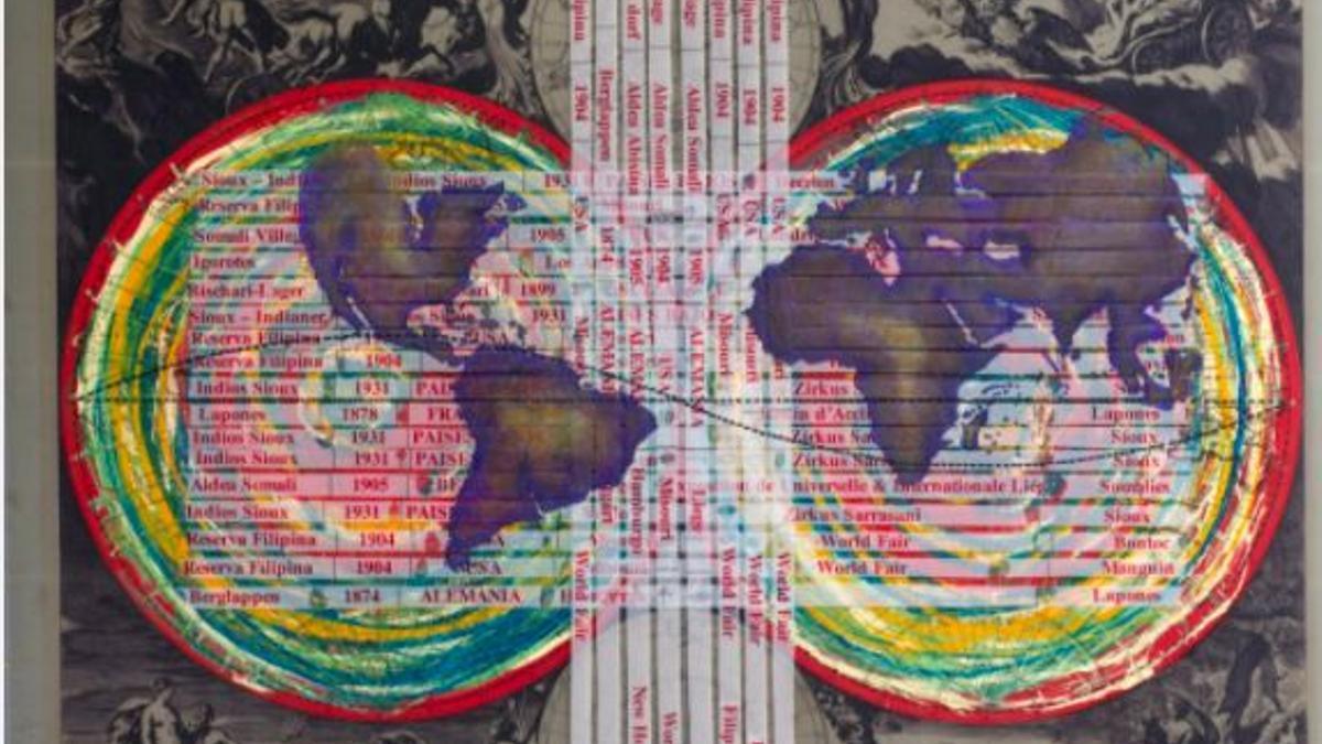 """Una de las obras de la tercera edición de BIENALSUR, la bienal de arte nacida en Argentina, reconocida este año como """"la bienal de la resistencia y la resiliencia del arte en pandemia""""."""