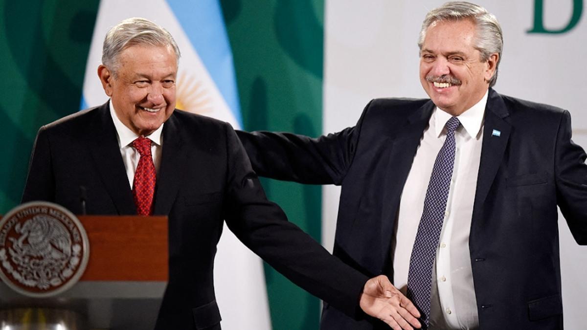 Alberto Fernández y su par mexicano, López Obrador