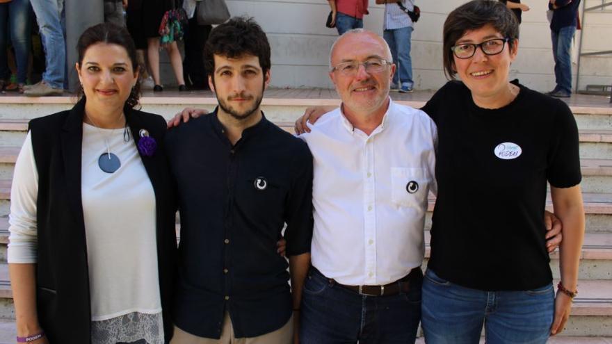 Fabiola Meco, Antonio Estañ, Antonio Montiel y Pilar Lima durante la II Asamblea Valenciana