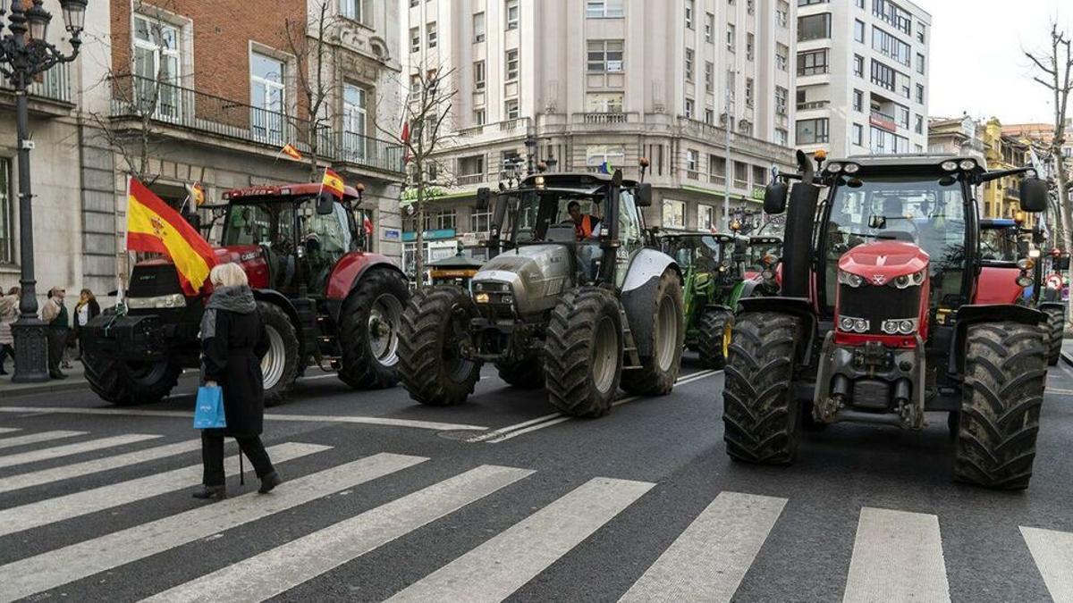 Manifestación de agricultores y ganaderos en Santander (archivo)
