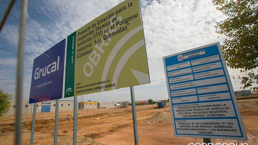 Solar en el que se está construyendo la nueva ITV de Córdoba   MADERO CUBERO