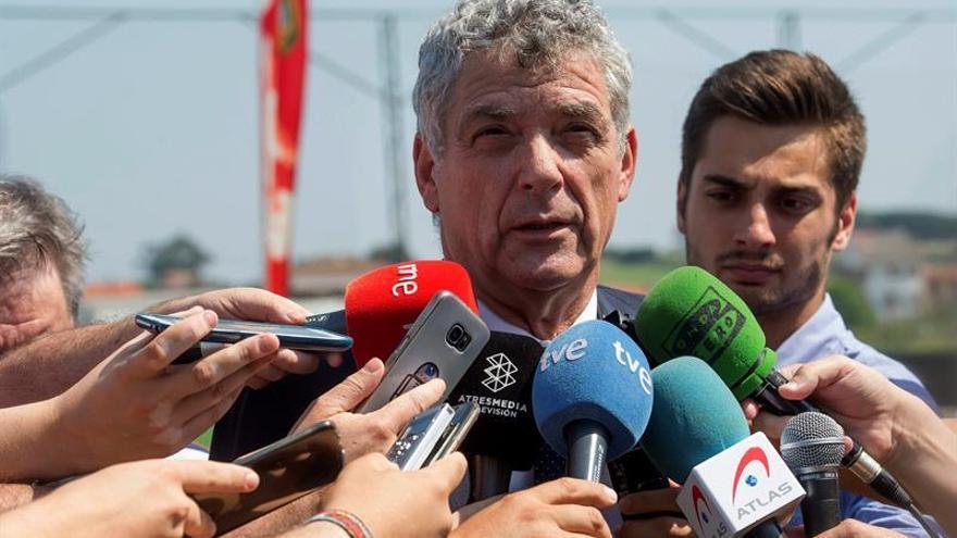 El presidente de la Federación Española de Fútbol Ángel María Villar.