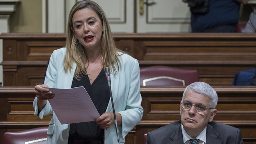 Dolores Corujo, portavoz del PSOE en el Parlamento de Canarias