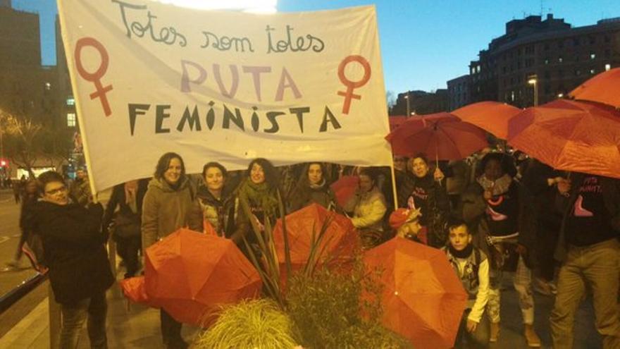 Protesta de Prostitutas Indignadas en Barcelona