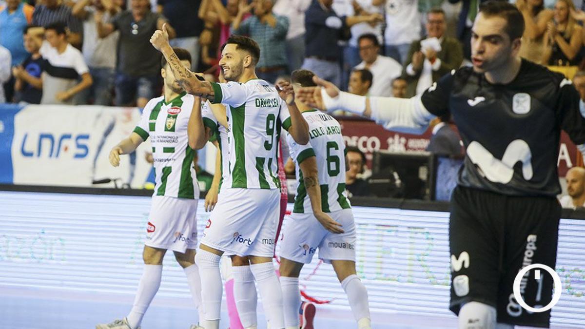 David Leal celebra un gol ante Movistar Inter la pasada campaña.