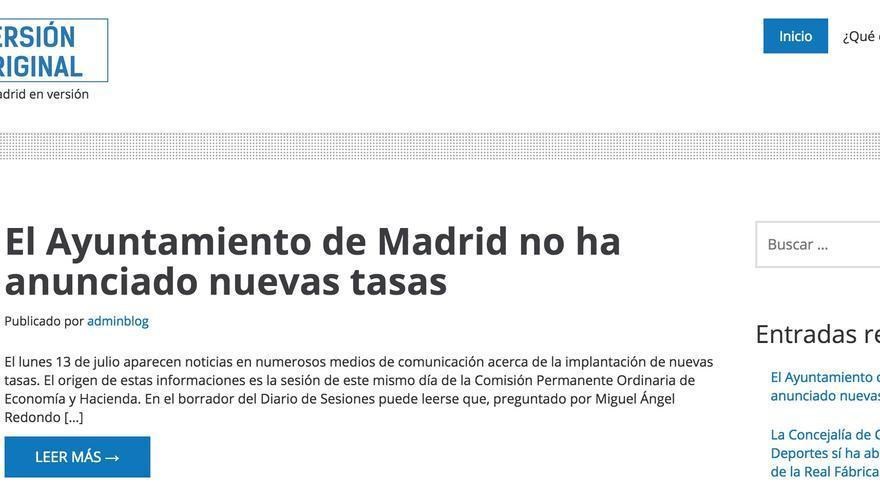 Web Versión Original del Ayuntamiento de Madrid
