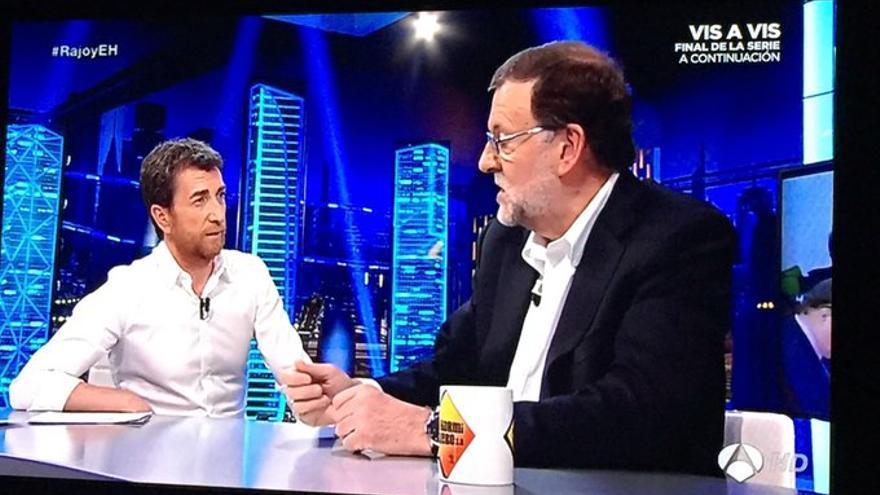 Mariano Rajoy, durante su intervención en el programa El Hormiguero. / PP