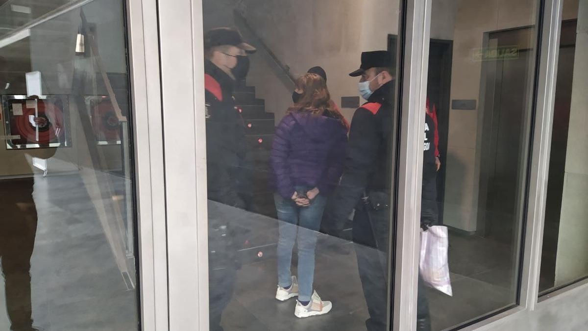 La Policía Foral detiene a la manifestante