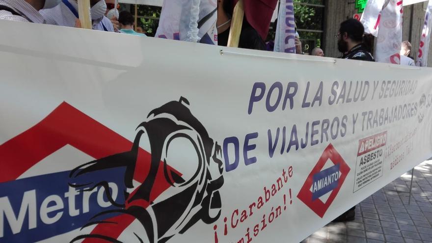 Protesta de los maquinistas de Metro, una de sus jornadas de huelga | SCMM