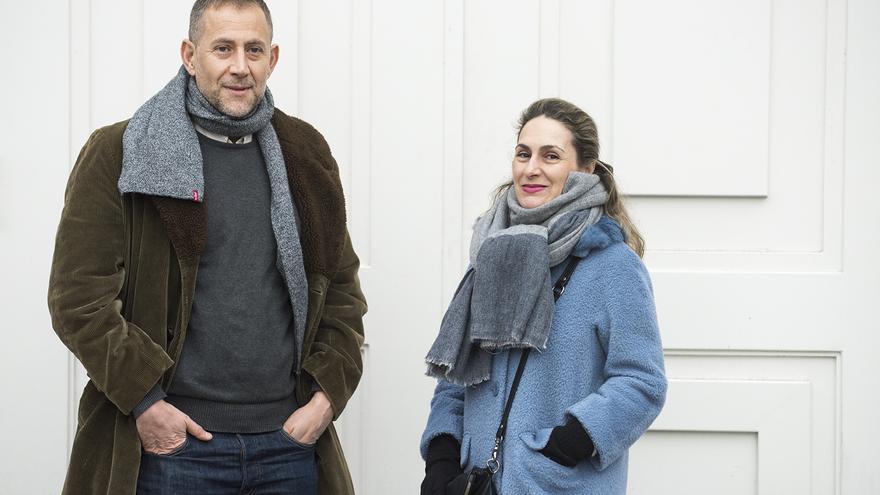 Luis García y Leticia García, durante un momento de la entrevista. / Fernando Sánchez