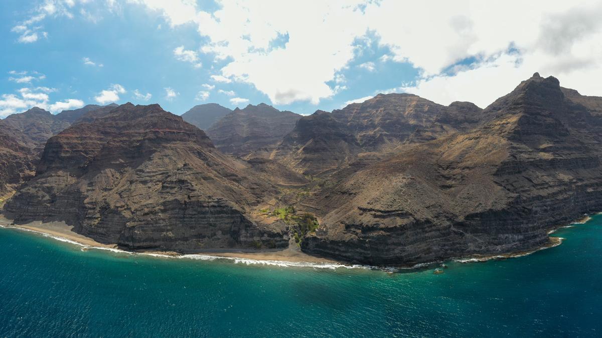 Guguy, en el sur de Gran Canaria, vista desde un dron