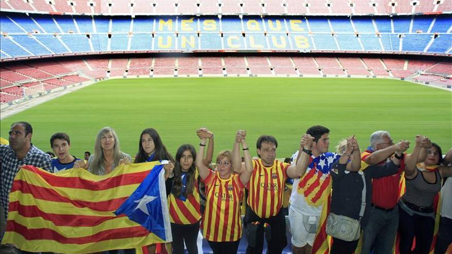 El Camp Nou, 'más que un estadio' para el independentismo catalán