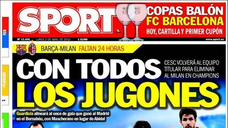 De las portadas del día (02/04/2012) #14