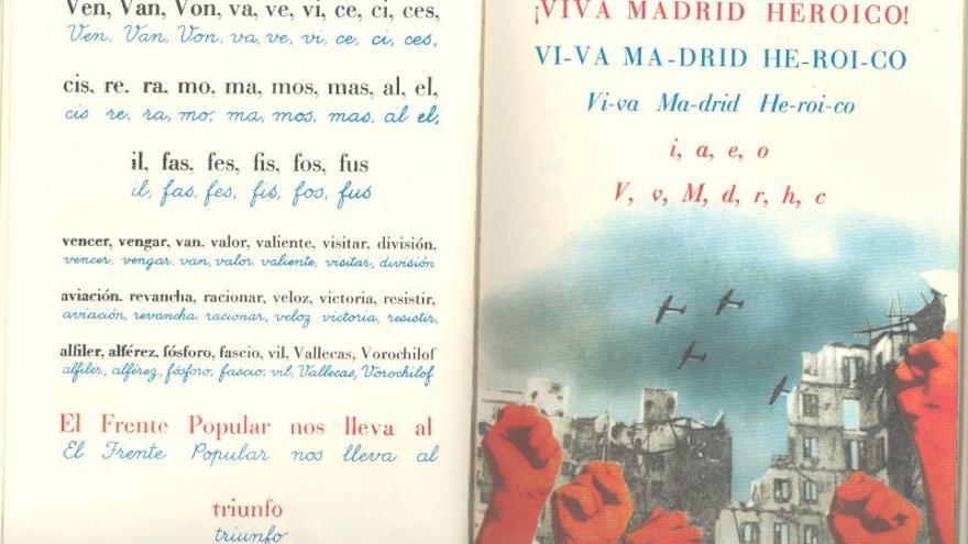 Fragmento de la Cartilla escolar antifascista/ Europeana Collections