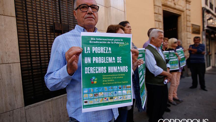Protesta de Barrios Ignorados en el Día Internacional contra la Pobreza   ÁLEX GALLEGOS