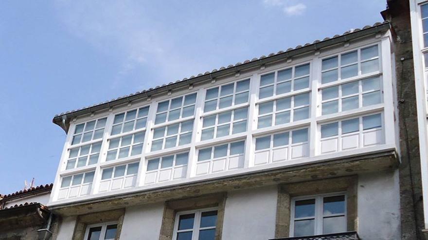 Exterior de una vivienda en el casco histórico de Santiago de Compostela