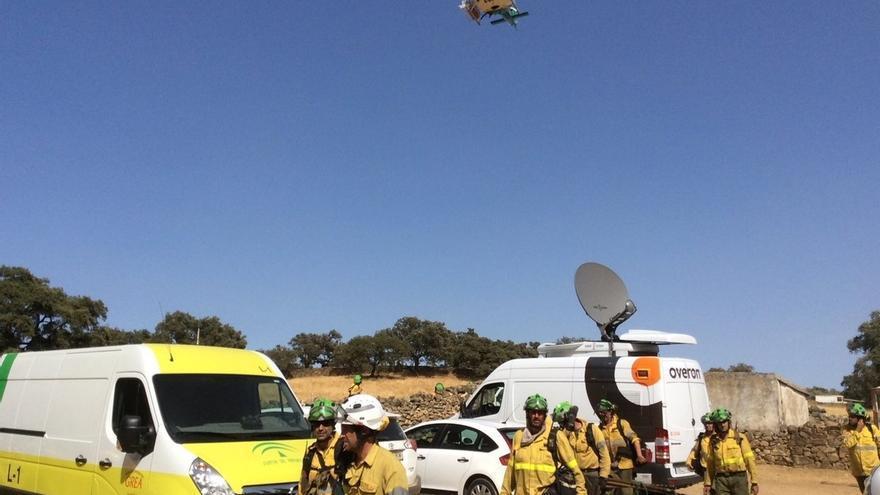 Extinguido el incendio intencionado de El Castillo de las Guardas, que ha afectado a 1.845 hectáreas