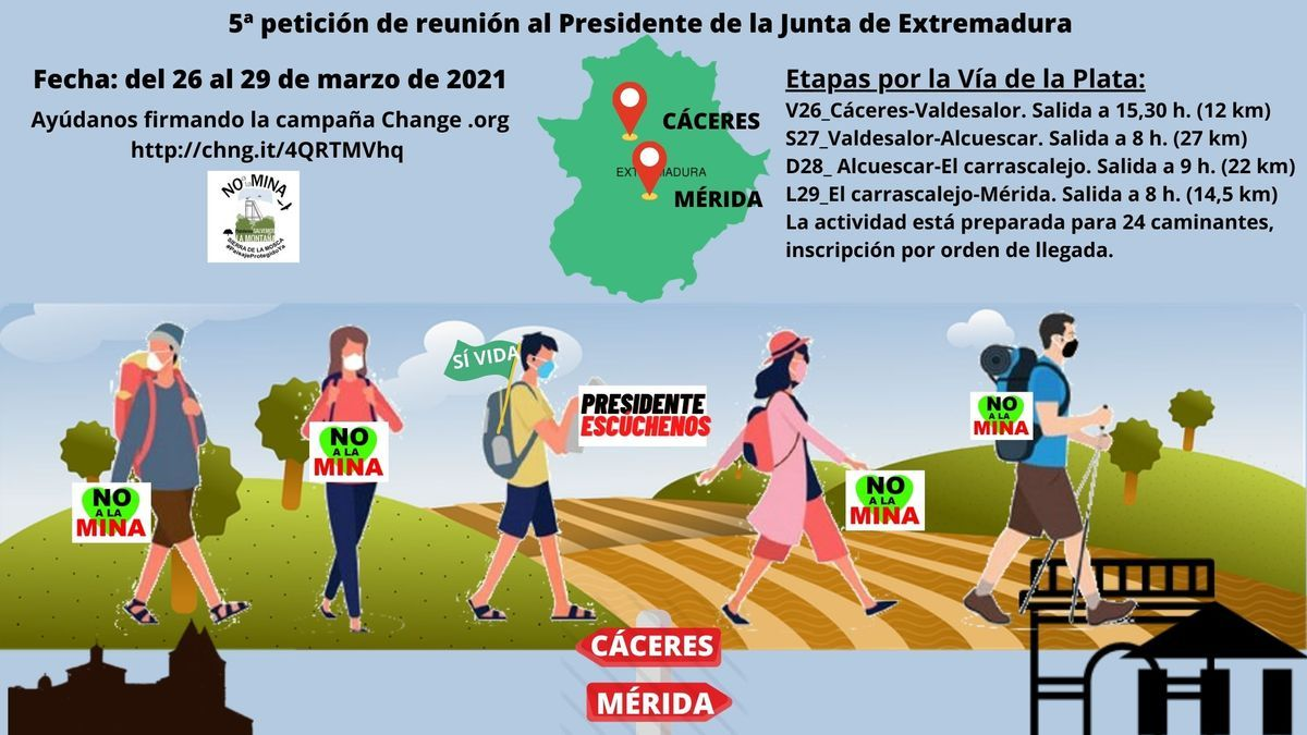 Salvemos la Montaña marcha Mérida