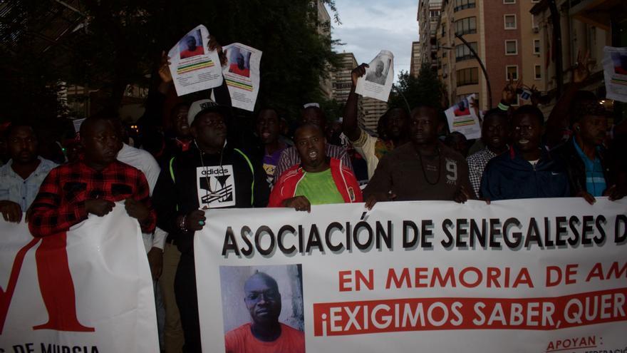 Manifestación por la muerte del senegalés Amadou Wade / E. R.