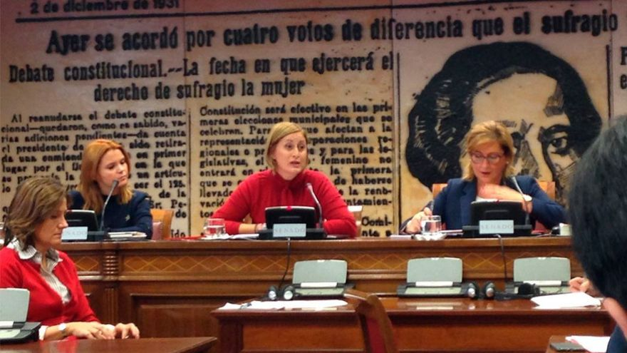 Eva Pascual, en su visita al Senado.