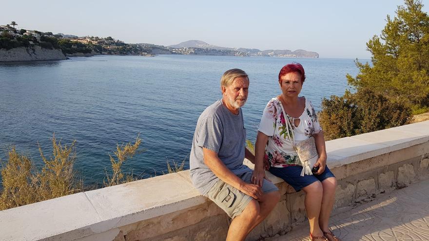 José y Felicitas, fotografíados el verano de 2018 en Calpe (Alicante) por su hijo.
