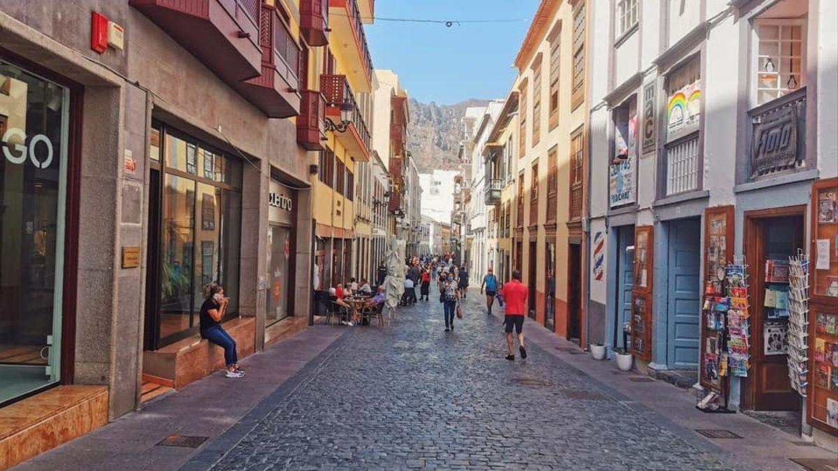 Calle O'Daly de Santa Cruz de La Palma.