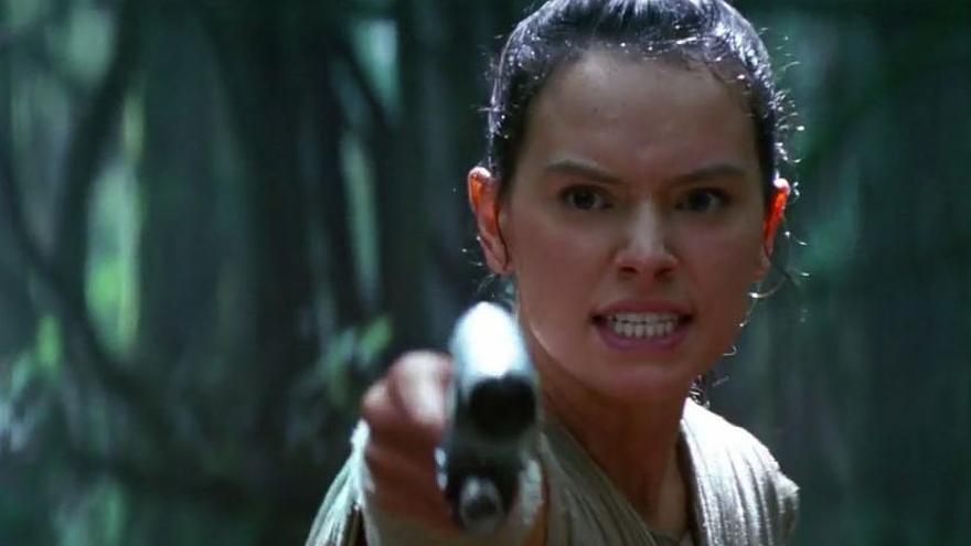 Rey (Daisy Ridley) en Star Wars
