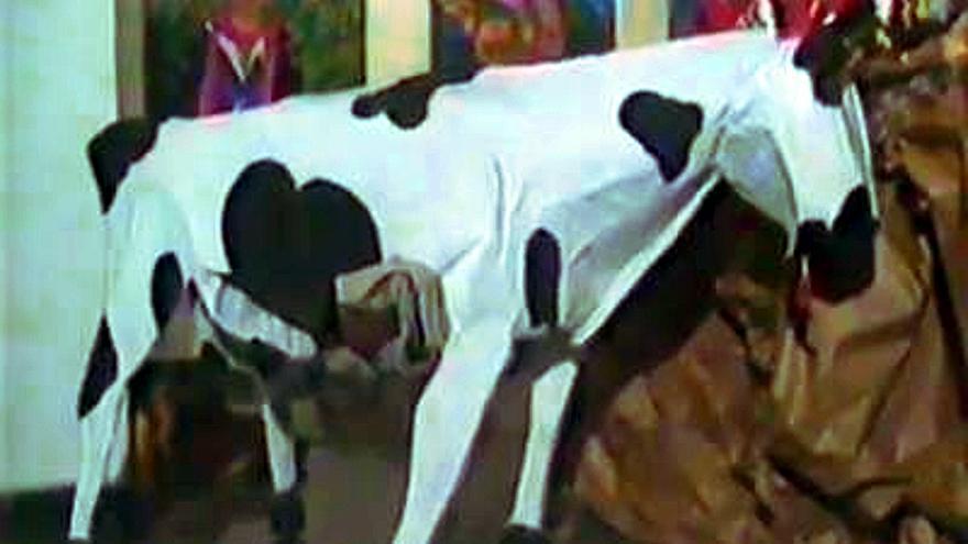 Fotografía de la Vaca de José Pérez Ocaña. | Hermandad de la Beata Ocaña