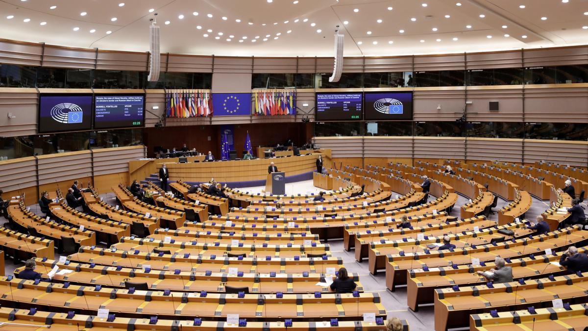 Parlamento europeo, en Bruselas. EFE/EPA/OLIVIER HOSLET