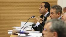 El abogado Alberto Hawach durante el juicio por el incendio forestal de Gran Canaria en 2007