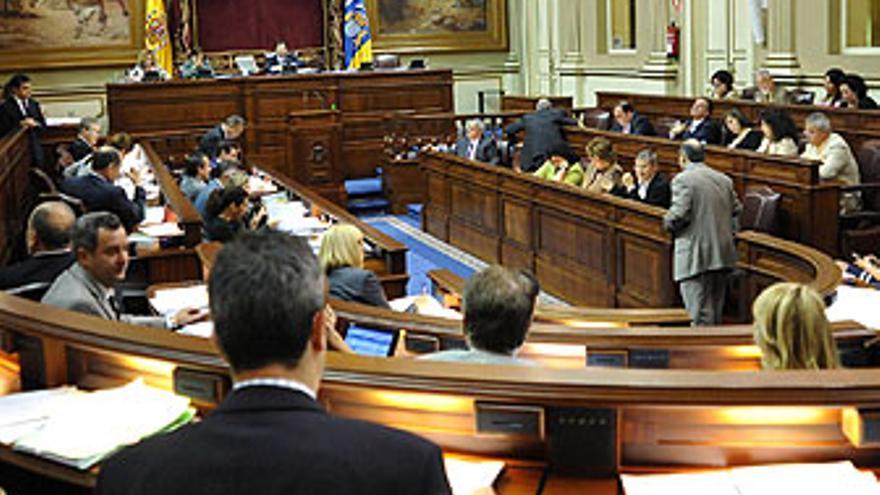 Una sesión plenaria en el Parlamento de Canarias. (ACFI PRESS)