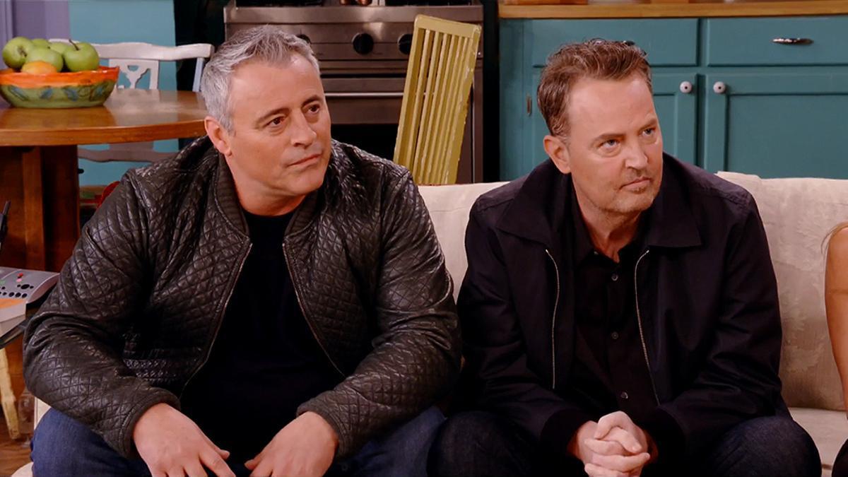 Matt LeBlanc y Matthew Perry en la reunión de 'Friends'