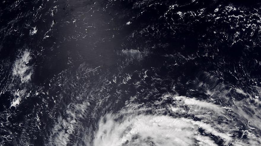Superciclón Jebi en su pico máximo de intensidad el 31 de agosto de 2018.