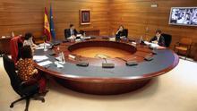 El presidente del Gobierno, Pedro Sánchez, preside el Consejo de Ministros extraordinario del viernes 22 de mayo, en Madrid