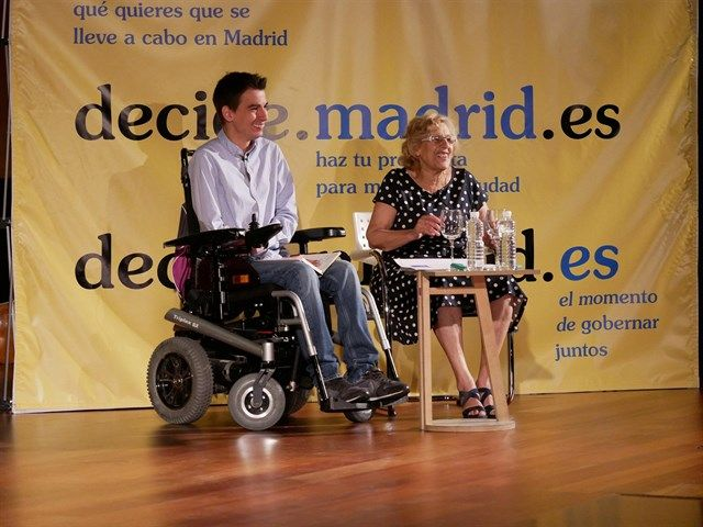 Manuela Carmena y pablo Soto | AYUNTAMIENTO DE MADRID