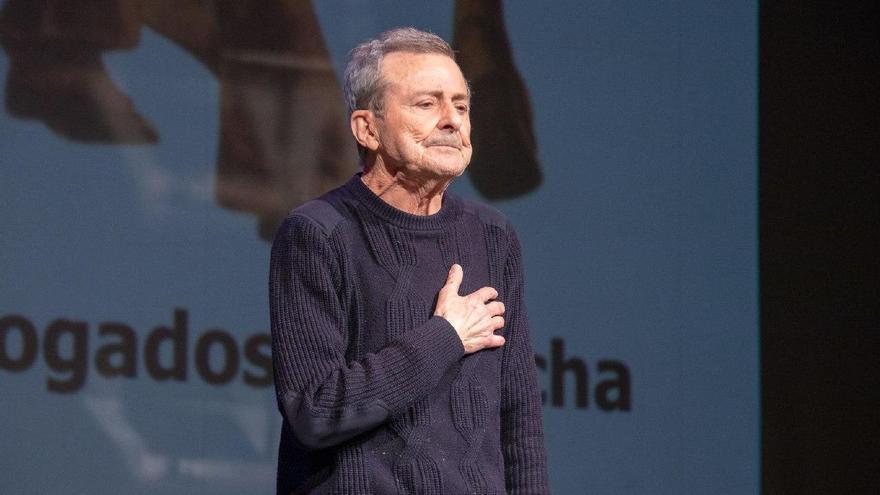 Juan Diego en la entrega de los premios Abogados de Atocha