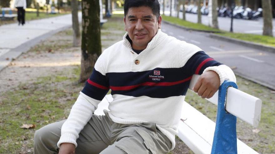 MiguelChilquillo durante la entrevista.