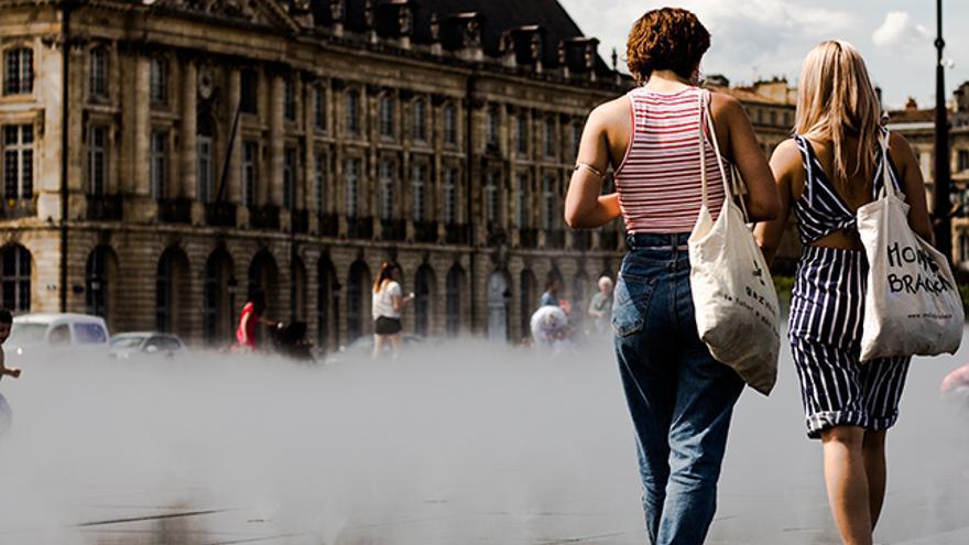 Bolsa de tela. Accesorios de viaje respetuosos con el medio ambiente