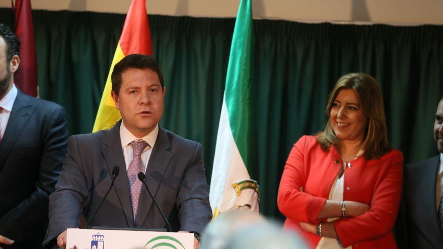 Emiliano García-Page y Susana Díaz en Azuqueca de Henares / JCCM