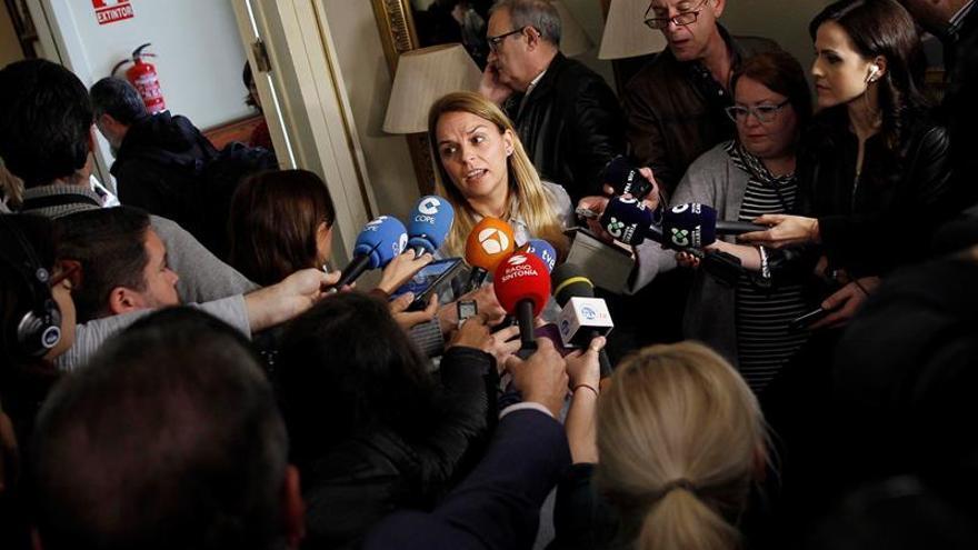 La portavoz del grupo Podemos del Parlamento de Canarias, Noemí Santana.