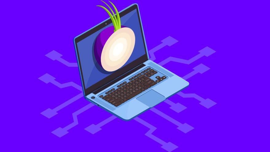 El logotipo del navegador Tor, que intenta asegurar el anonimato del usuario, es una cebolla. Una metáfora por las diffeentes capas de seguridad que incorpora para proteger la identidad de quien lo usa.